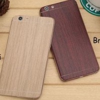 Skin Wood Oppo F1 F1S F1 Plus Neo 7 Neo 9 Garskin For Case - Brown
