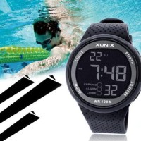 Xonix Jam Tangan Digital Diving Pria Waterproof 100M - Black