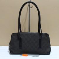 Tas branded G  CI GC394 Black shoulder bag jacquard second original f5df312d65