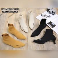 Zara Boots Socks/sepatu zara/heels hitam/heels murah/heels fashion/