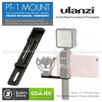 Ulanzi PT-1 Microphone Extension Cold Shoe Metal Plate Hand Video Grip