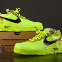 NIKE AIR FORCE 1 LOW X OFFWHITE VOLT (UNAUTHORIZED AUTHENTIC)