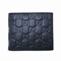 dompet kulit pria Guci DK3923-3 black hitam
