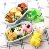Cetakan hewan 1 set isi 3 Mold animal Pencetak Cetak Nasi Rice Sushi
