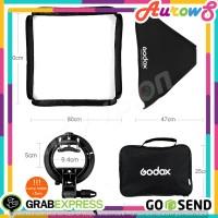 Softbox Flash Diffuser Camera DSLR 50 X 50 CM Godox Lightning studio