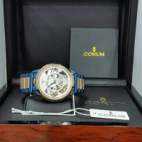 TERBARU Jam Tangan Corum Automatic blue Rosegold plus box original