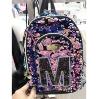 Justice Tas Mini Backpack Flip Sequin Change Color Inisial A C D J K M