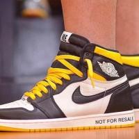 475293a3a74 Sepatu Nike Air Jordan 1 Not For Resale Black Yellow Premium Original