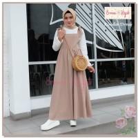 TERBAIK Kinda Dress Erma Hijab Polos Remaja Syari Muslimah Overall