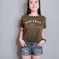 Hugoshop.in / Tumblr tee / Kaos wanita / T-shirt new york army