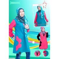 Harga model baru sanari tunik baju premium muslimah motif 2 pakaian   Pembandingharga.com