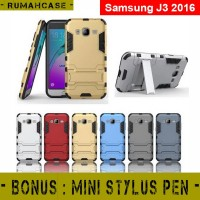 Samsung J3 2016 Iron Man Armor Hardcase With Stand Holder Case