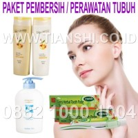 Paket Pembersih Perawatan Tubuh Tiens/Tianshi Shampo Conditioner Sabun