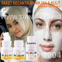 Paket Kecantikan Kulit dan Wajah 2 Vitaline + Masker Chitosan ASLI ORI