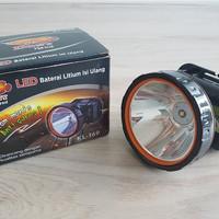 Senter Lampu Kepala Dony KL 169 HITAM MANIS/ANTI GORES 10 Watt