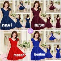 Dress Anggun/dress natal murah/dress pesta/baju natal wanita murah