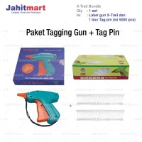 "PAKET TEMBAKAN TAG GUN ""X-TRAIL"" + ISI 5.000 PCS TAG PIN (ARROW PIN)"
