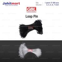 "LOOP PIN / LOOPIN / STRING PIN / STRINGPIN MERK ""GBL"" ISI 500 PCS"