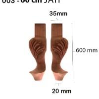 Kaki Meja Kayu 003 - 60cm JATI