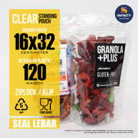 16x32 GROSIR Kemasan Plastik Klip Ziplock Standing Pouch Seal Lebar