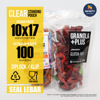 PROMO 10x17 Kemasan Plastik Klip Ziplock Standing Pouch Seal Lebar