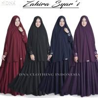 zahira gamis set jilbab syari bhn jatuh dan adem variasi renda bordir