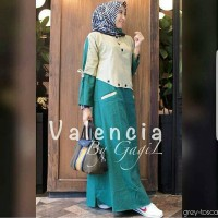 Baju Valencia Dress Grey Grosir Baju Muslim Baju Gamis Long Maxi Dress