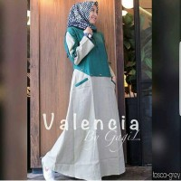 Baju Valencia Dress Baju Maxi Muslim Gamis Syari Murah Wanita Terbaru
