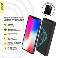 powerbank UNEED QiBox W10 Max Fast Wireless Charging 10000mAh & QC 3.0