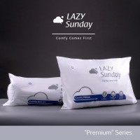 Paket 1 Bantal + 1 Guling Tidur LAZY Sunday , BEST DEAL !! Top Quality