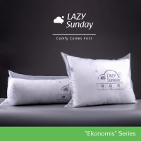 Paket Ekonomis 1 Bantal + 1 Guling Tidur LAZY Sunday , Harga Hemat !!