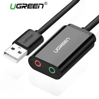 UGREEN USB AUDIO ADAPTER STEREO AUDIO & MIC JACK 3.55MM SOUNDCARD