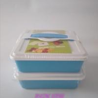 Rantang Segi 2 Susun Dengan 4 Buah Kotak Kecil / Bekal / Kotak Makan