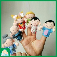 Mainan Bayi Boneka Jari Puppet Fingers Tema Keluarga 6126d31c4f