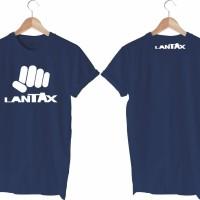 Tshirt, kaos, lantax, biru dongker