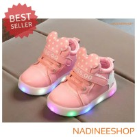 Sepatu LED Sepatu Hello Kitty Mickey Mouse Sepatu Anak Bayi Import