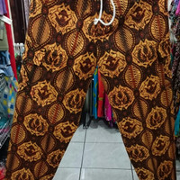 Celana boim batik dasar cokelat dewasa