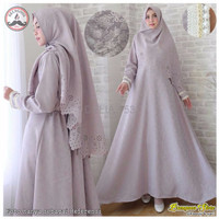 TERLAKU Gamis Muslimah TALIFA Syari Dress Balotelly Emboss Premium Ga