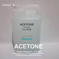 Aceton - (5 L) - Pembersih Kutek - Pembersih Cat - Penghilang Noda