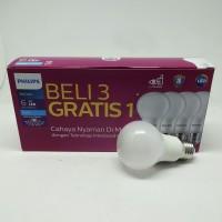 Lampu Bohlam Bola LED Bulb Mycare Philips 6W Pack Isi 4 Pcs