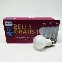 Lampu Bohlam Bola LED Bulb Mycare Philips 8W Pack Isi 4 Pcs