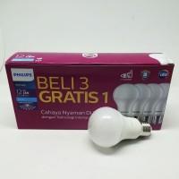 Lampu Bohlam Bola LED Bulb Mycare Philips 12W Pack Isi 4 Pcs