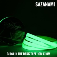 GLOW IN THE DARK TAPE 1CM X 10M GLOW TAPE STICKER FOSFOR LAKBAN FOSTOR