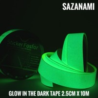 GLOW IN THE DARK TAPE 2.5CM X 10M GLOW TAPE STICKER FOSFOR LAKBAN