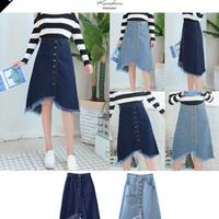 Paling Murah (#6093)Jennifer Denim Skirt/Rok Midi/Rok Jeans/Rok Deni