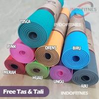 Matras Yoga TPE Yogamat Double Layer | Yoga Mat Dua Sisi | Senam Gym
