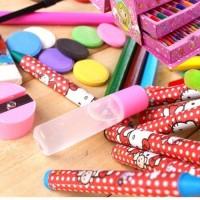 PROMO BESAR 68 pcs pensil warna alat tulis set crayon alat tulis set