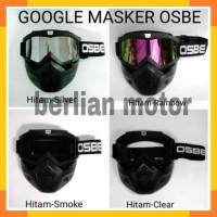 Google mask osbe/ goggle mask osbe / kacamata masker - pnp helm retro,
