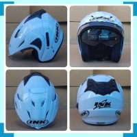 HELM INK CX22 T1 DOUBLE VISOR REPLIKA PUTIH BKN CENTRO BOGO HELM