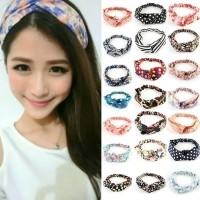 Bandana Korea Wanita Dewasa Import / Bando Headband Cewek Perempuan